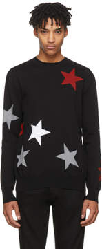 Givenchy Black Intarsia Stars Sweater