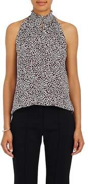 A.L.C. Women's Zayden Leopard-Print Silk Crepe Top