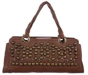 Oscar de la Renta Leather Embellished Bag