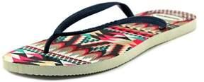 Havaianas Bianca Women Open Toe Synthetic Multi Color Thong Sandal.