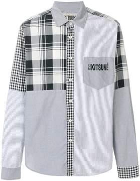 MAISON KITSUNÉ x NBA checked shirt
