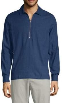 J. Lindeberg Long-Sleeve Cotton Polo