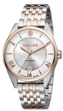 Roberto Cavalli Men's Classic Automatic Silver Stainless Steel Bracelet Watch.