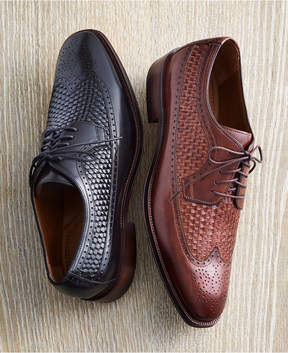 Johnston & Murphy Men's Boydstun Woven Wingtip Lace-Up Oxfords Men's Shoes