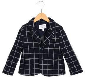 Armani Junior Boys' Check Patterned Knit Blazer w/ Tags