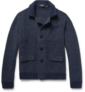 Incotex Slim-Fit Mélange Virgin Wool And Alpaca-Blend Cardigan
