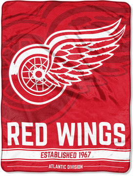 Northwest Company Detroit Red Wings Micro Raschel 46x60 Break Away Blanket