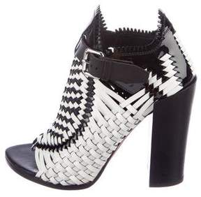 Proenza Schouler Patent Leather Woven Booties