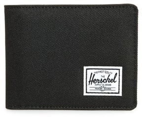 Herschel Men's Hank Rfid Bifold Wallet - Black