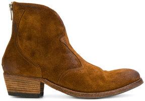 Pantanetti low heel cowboy boots