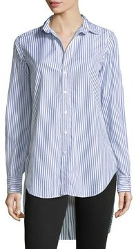 Frank And Eileen Grayson Striped Button-Down Long-Sleeve Cotton Shirt