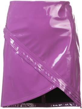 RtA asymmetric short fitted skirt