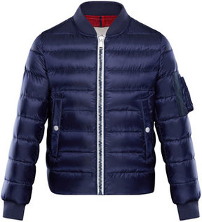 Moncler Aiden Quilted Bomber Jacket, Size 4-6
