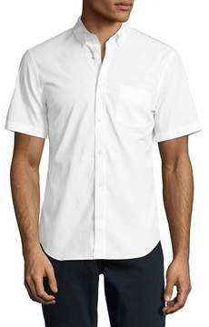 Burberry Cambridge Short-Sleeve Stretch-Cotton Shirt, White