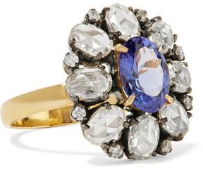 Amrapali 18-karat Gold, Sterling Silver, Diamond And Tanzanite Ring