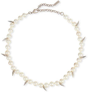 Fallon Linda Pearly Spike Choker Necklace