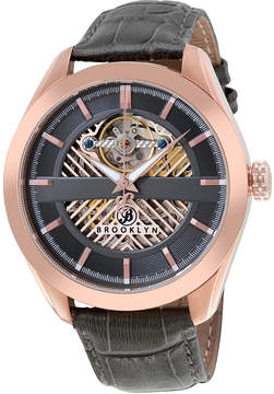 Co Brooklyn Watch Brooklyn Pierrepont Skeleton Men's Automatic Grey Dial Men's Watch