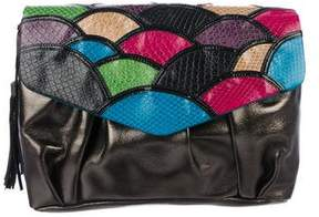 Tibi Leather Patchwork Clutch
