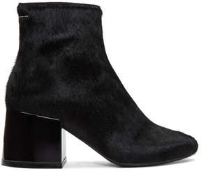 Maison Margiela Black Pony Boots