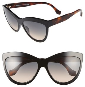 Balenciaga Women's 60Mm Sunglasses - Black/ Havana/ Gold/ Smoke