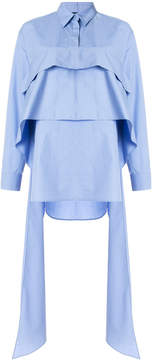 Cédric Charlier pleated shirt