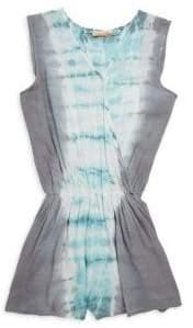 Vintage Havana Girl's Tie-Dye Open-Back Romper