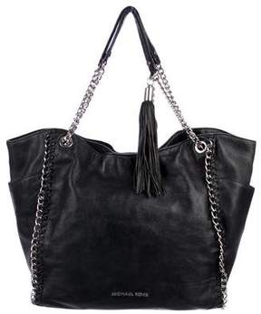 MICHAEL Michael Kors Leather Tassel Tote