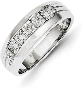 Ice 14k White Gold Diamond Men's Ring