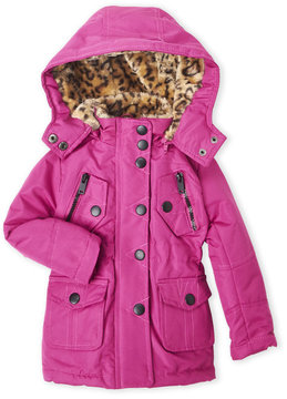 Urban Republic Toddler Girls) Ballistic Faux Fur Hooded Jacket