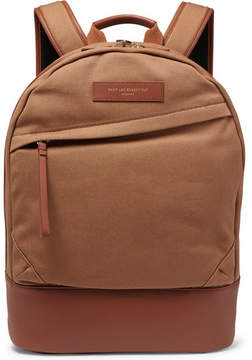 WANT Les Essentiels Kastrup Leather-Trimmed Organic Cotton-Canvas Backpack