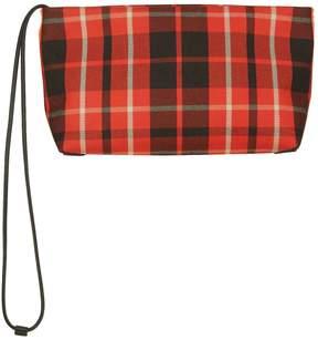 Burberry Zipped Tartan Clutch - RED - STYLE