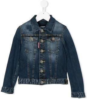 DSQUARED2 faded denim jacket