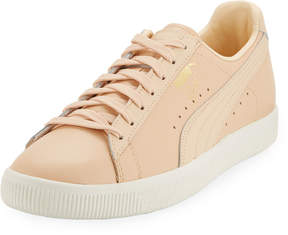 Puma Men's Clyde Perforated Natural Sneakers, Beige