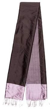 Max Mara Silk Fringe Shawl