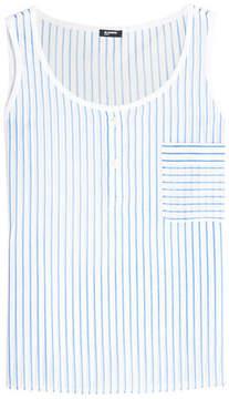 Jil Sander Navy Striped Cotton Top