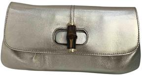 Gucci Bamboo leather clutch bag - GOLD - STYLE