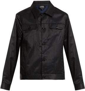 A.P.C. Brandy dot-print cotton-blend satin jacket
