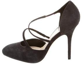 Christian Dior Embossed Leather Pointed-Toe Pumps