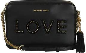Michael Kors Ginny Love Shoulder Bag - BLACK - STYLE