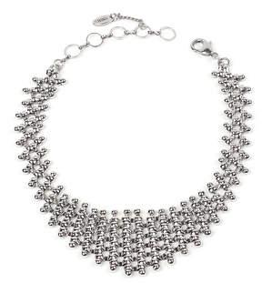 Amrita Singh Silvertone Chain Link Bib Necklace