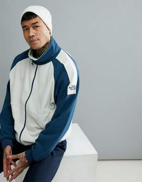 The North Face 1990 Staff Full Zip Fleece In Off White/Blue