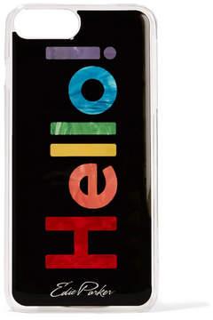 Edie Parker Goo.ey Printed Plastic Iphone 6 And 7 Plus Case - Black