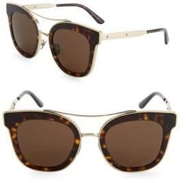 Bottega Veneta 52MM Tortoiseshell Cat-Eye Sunglasses