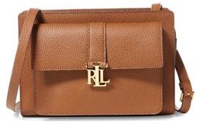 Lauren Ralph Lauren Brylee Pebbled Leather Crossbody Bag