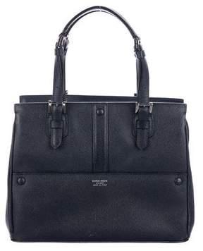Giorgio Armani Textured Leather Satchel
