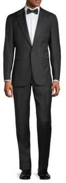 Isaia Peak Lapel Wool Suit