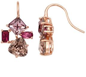 Brilliance+ Brilliance Pink Cluster Drop Earrings with Swarovski Crystals