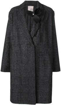 Antonio Marras brooch detail checked coat