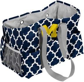 NCAA Logo Brand Michigan Wolverines Quatrefoil Junior Caddy Tote