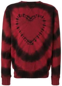 Amiri Heart Tie Dye Crew Neck sweatshirt
